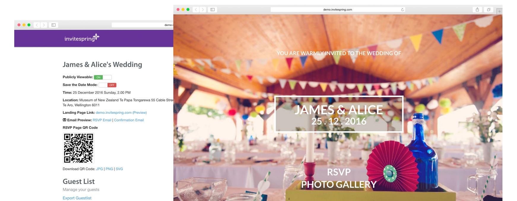 Wedding Rsvp Website.Online Invitation And Guest Rsvp Website For Your Wedding